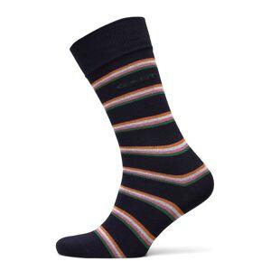 Gant D1. 1 Pack Multi Stripe Underwear Socks Regular Socks Blå Gant