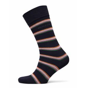 Gant D1. 1 Pack Multi Stripe Underwear Socks Regular Socks Blå Gant