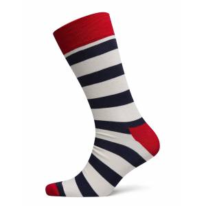 Happy Socks Stripe MÖRk Multi Underwear Socks Regular Socks Blå Happy Socks