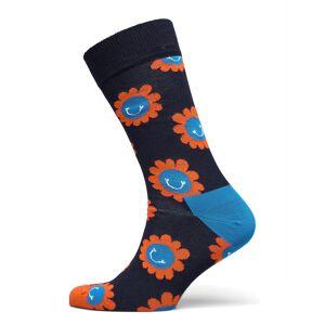 Happy Socks Smiley Flower Sock Underwear Socks Regular Socks Svart Happy Socks