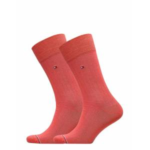 Tommy Hilfiger Th Men Sock 2p Rib Underwear Socks Regular Socks Röd Tommy Hilfiger