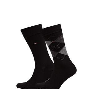 Tommy Hilfiger Th Men Sock Check 2-Pack Underwear Socks Regular Socks Svart Tommy Hilfiger