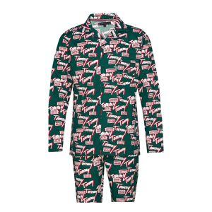 Tommy Hilfiger Ls Tommy Logo Woven Pyjamas Multi/mönstrad Tommy Hilfiger