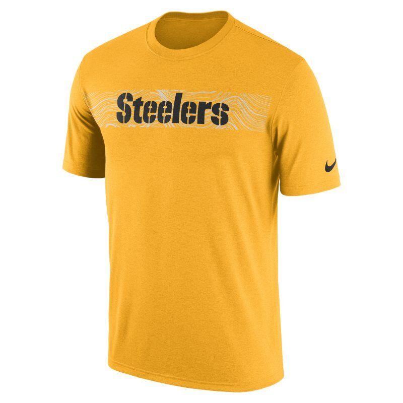 wholesale dealer 4d48a 9bdd7 Nike T-shirt Nike Dri-FIT Legend Seismic (NFL Steelers) för män - Gold M