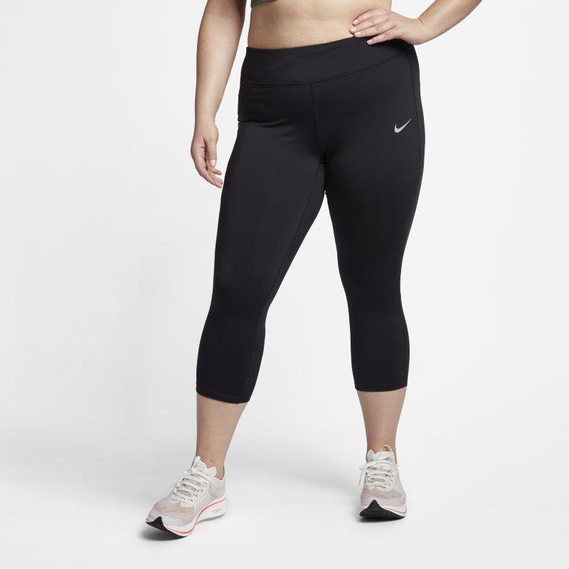 brand new 3858b a5f74 Nike Träningstights Nike Power med mellanhög midja för kvinnor (stora  storlekar) - Svart 3X