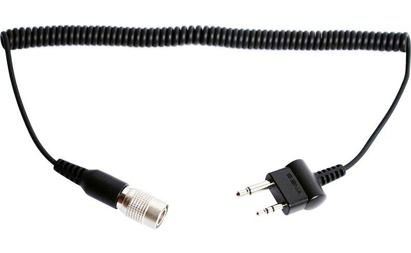 Sena 2-Way Midland / Icom Twin-Pin Connector Straight Type Radiokabel en storlek Svart