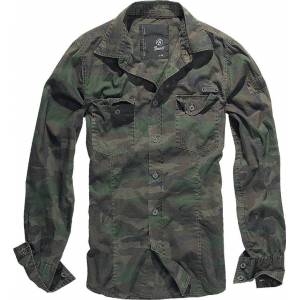 Brandit SlimFit Skjorta Grön S