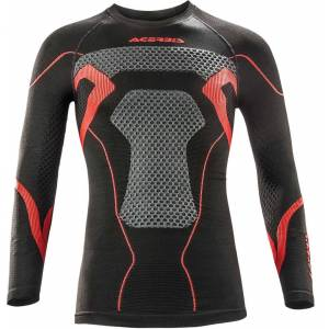 Acerbis X-Body Vinter skjorta Svart Röd 2XL