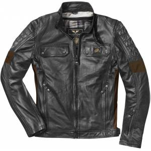 Black-Cafe London Brooklyn Motorcykel skinnjacka Svart 48