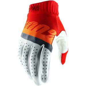 100% Ridefit Handskar Vit Röd S