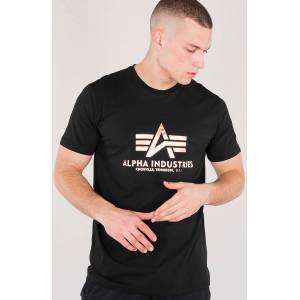 Alpha Industries Basic T-Shirt Svart Guld L