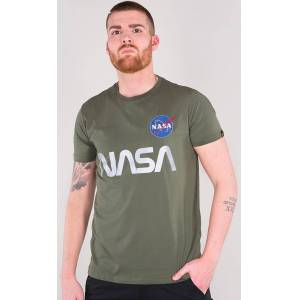 Alpha Industries NASA Reflective T-Shirt Grön XL