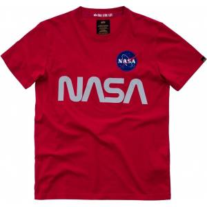 Alpha Industries NASA Reflective T-Shirt Röd L