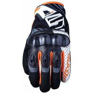Five RS-C Motorcykel handskar Svart Vit Orange S
