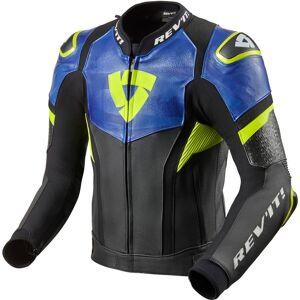 Revit Hyperspeed Pro Motorcykel skinnjacka Svart Blå Gul 50