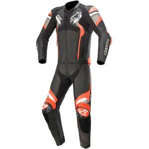 Alpinestars Atem V4 Två delad motorcykel läder kostym Svart Grå Röd 50
