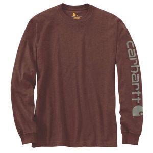 Carhartt Logo Long Sleeve Shirt Långärmad skjorta M Brun