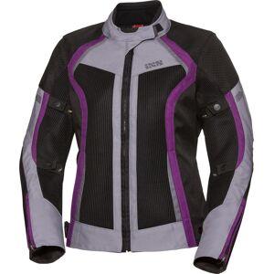 IXS Sport Andorra-Air Kära motorcykel textil jacka L Svart Mörklila