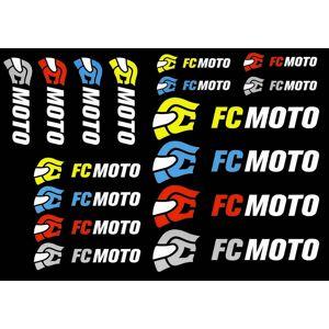 FC-Moto Logo Klistermärke Set en storlek