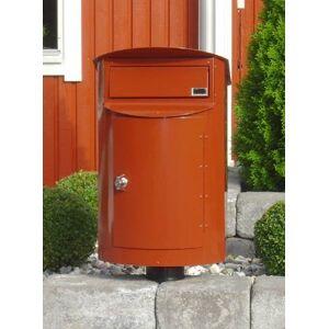 Postlåda Biggi Rondo Mini Rödbrun