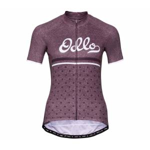 ODLO Stand-up Collar s/s Full Zip Element Dam Cykel-jerseytröja L