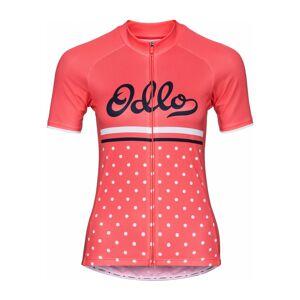 ODLO Stand-Up Collar Full-Zip Fujin Print Shortsleeve Dam Cykel-jerseytröja L