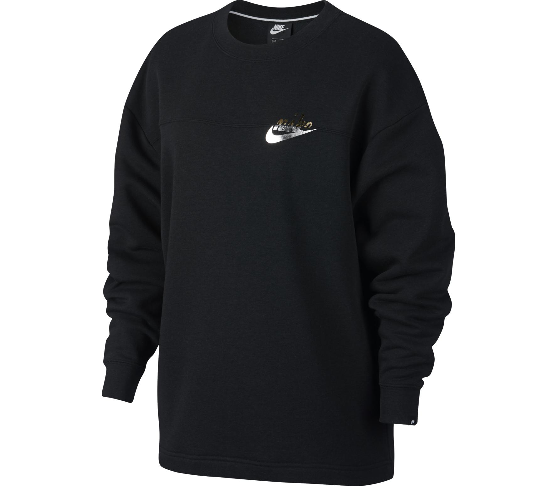 Nike Sportswear Rally Metallic Dam Sweatshirt svart