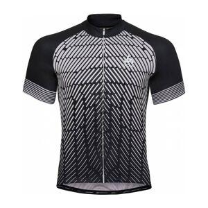 ODLO Stand-Up Collar Full-Zip Fujin Print Shortsleeve Herr Cykel-jerseytröja L