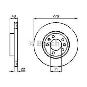 Bosch Sats om 2 bromsskivor  (0 986 478 140)