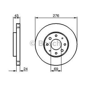 Bosch Sats om 2 bromsskivor  (0 986 479 140)