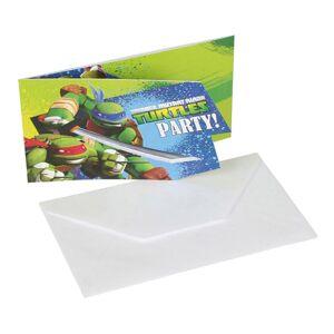 Amscan Inbjudningskort Ninja Turtles - 6-pack