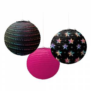 Amscan Papperslyktor Disco Fever - 3-pack