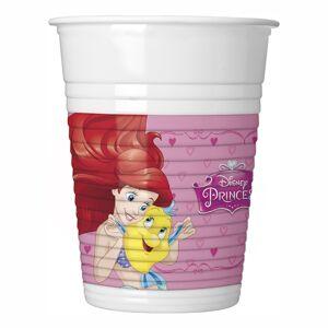 Globos Nordic Plastmuggar Disneyprinsessor - 8-pack