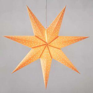 Markslöjd Stjärna Clara hängande, sammetslook Ø 75 cm orange