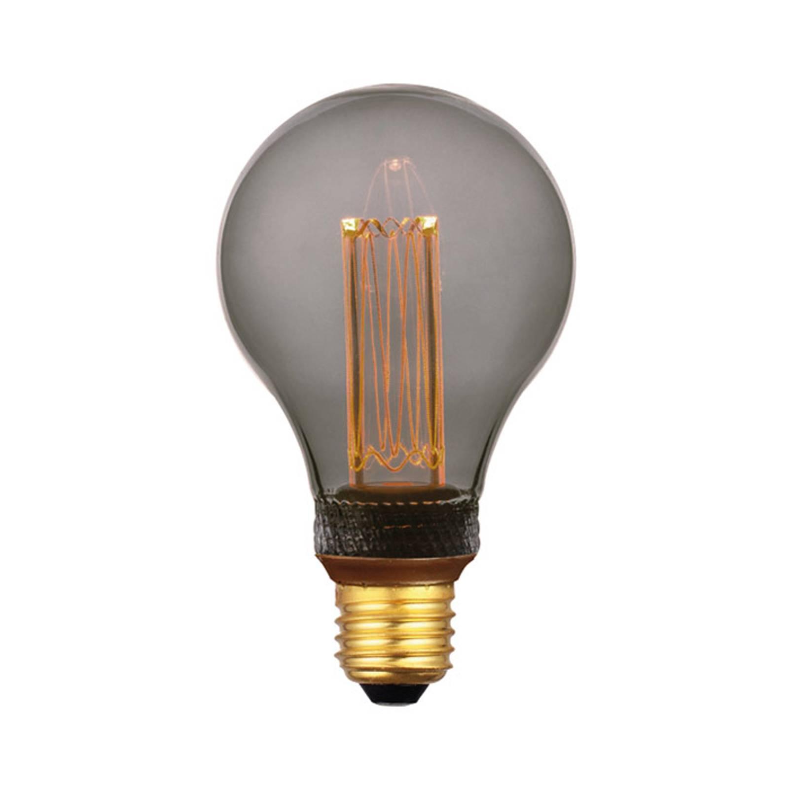 Freelight LED-lampa E27 5W, varmvit, 3-step-dim, smoke 14 cm