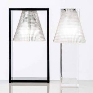 Kartell Designer-LED-bordslampa Light-Air, svart-transp.