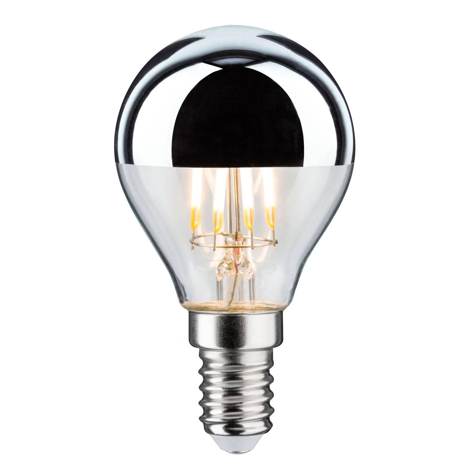 Paulmann LED-lampa E14 827 toppförspeglad silver dimbar