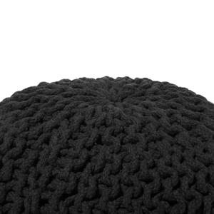 Beliani Sittpuff 40 x 25 svart CONRAD