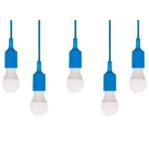 Beliani Taklampa 5 st blå ARAKS
