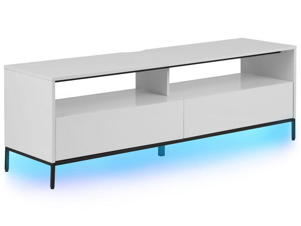Beliani TV-bänk med LED belysning vit SYDNEY