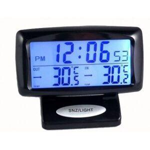 Bil LED klocka och temperatur