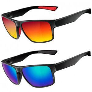 RockBros polariserande solglasögon & etui - Blå