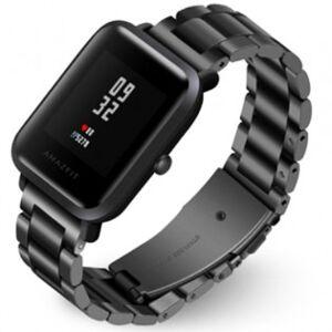 Xiaomi smartwatches Xiaomi Amazfit Bip Armband i rostfritt stål 20mm - Svart