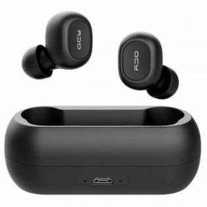 QCY T1 trådlösa Bluetooth 5.0 hörlurar - Svart