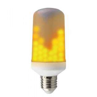 Tvåsidig LED-lampa med flammande låga E14/E27 - E27
