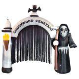 FUNNY FASHION Uppblåsbar Death Arch Halloweendekoration
