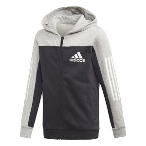 Adidas Full-Zip Hoodie Svart Junior Grå