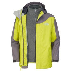 The North Face Boys Evolution Triclimate Jacket Venom Yellow Skaljacka Barn Storlek 120