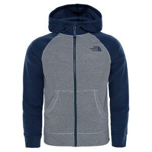 The North Face Boys Glacier Full Zip Hoodie Mid Grey Cosmic Blue Junior