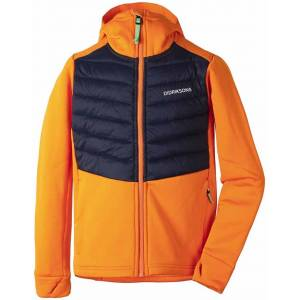 Didriksons Halden Hybrid Hoodie Junior Orange